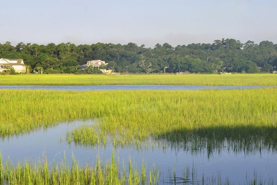 Many homes in Murrells Inlet back up to marsh and backwater areas offering water access for boating fishing and more.