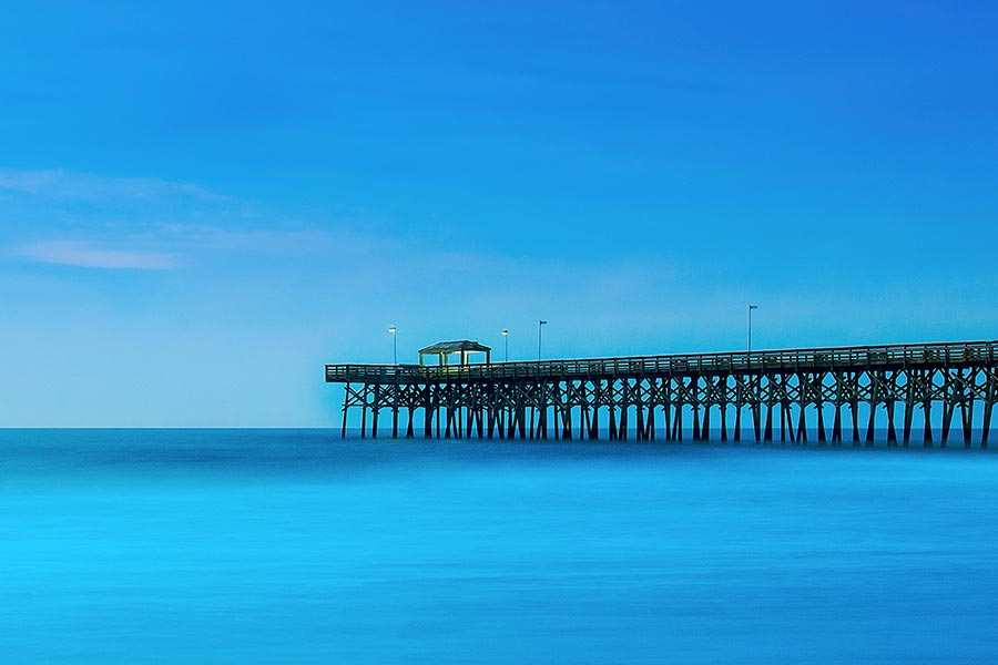 Cool shot of pier in Myrtle Beach.