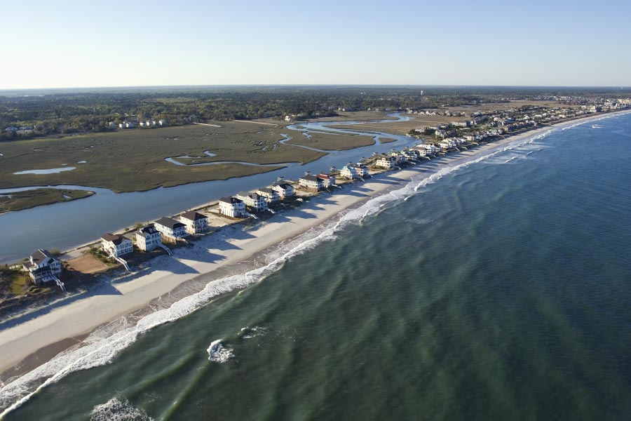 Cool aerial shot of Pawleys Island.