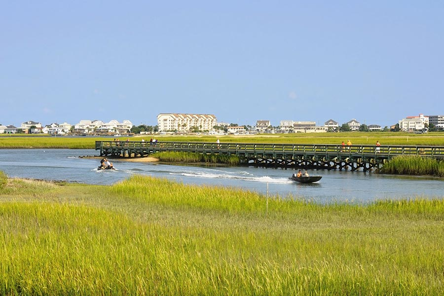 Myrtle Beach backwaters offer opportunities for endless exploration, fishing and water sports.