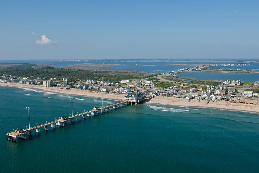 Aerial of Nags Head, NC
