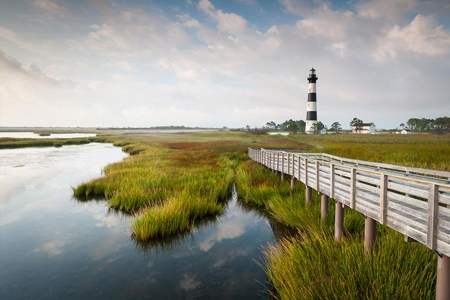 Beautiful morning shot of Bodie Island lighthouse.