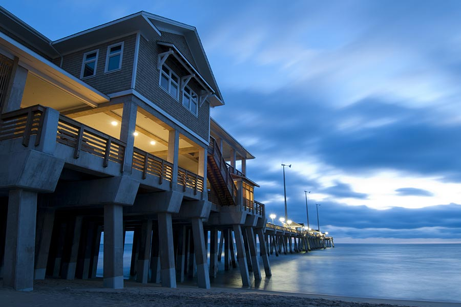 Pier in Kitty Hawk, North Carolina.