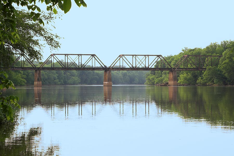 The Cape Fear River offers miles of open water for fishing, boating and sightseeing.