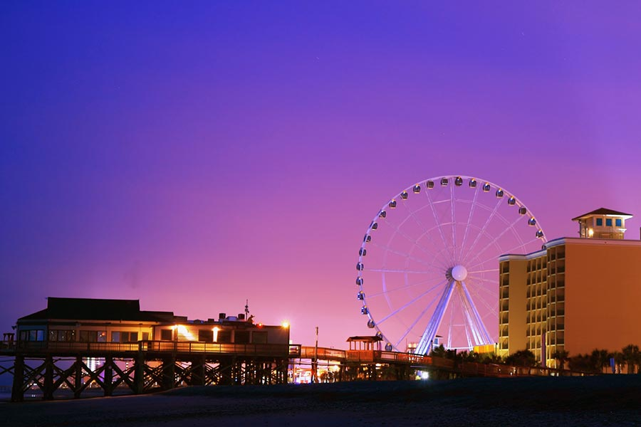 The Myrtle Beach Boardwalk is just a short drive from Conway and offers endless entertainment and dining options.
