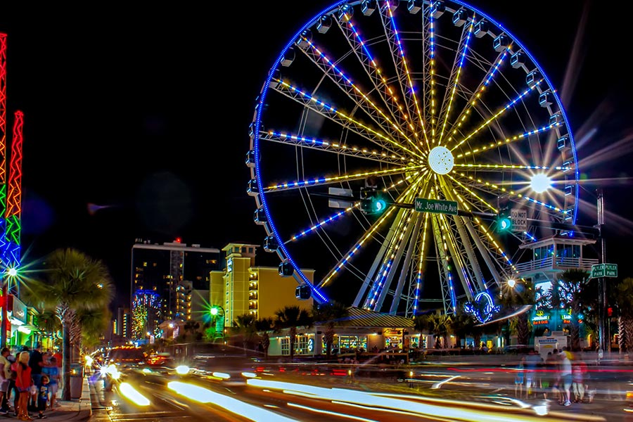 The Skywheel is a popular Myrtle Beach attraction that affords riders the best view on the Grand Strand.
