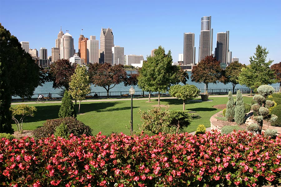 This shot of Detroit was taken from Windsor Ontario side.