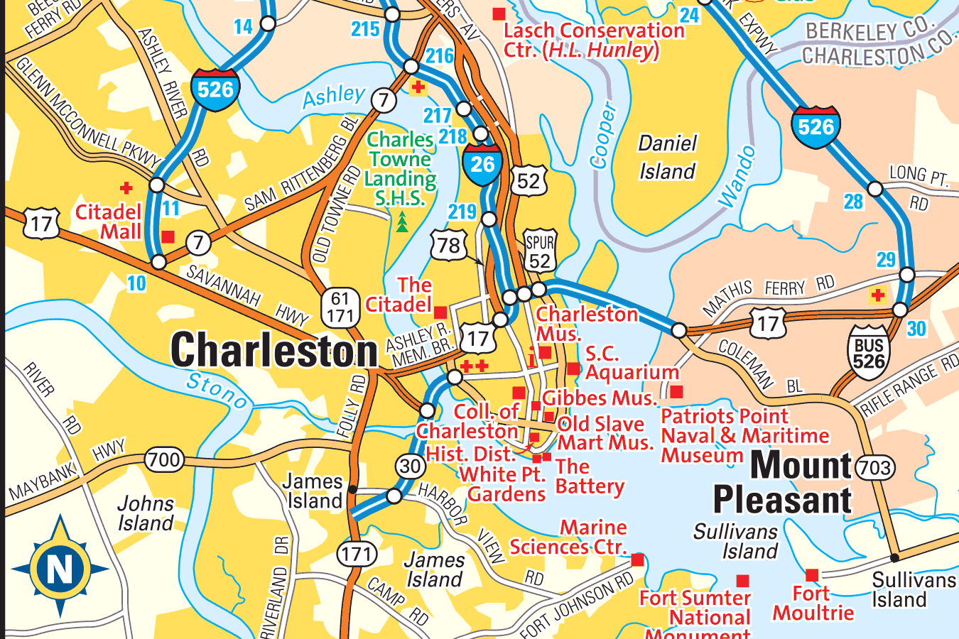 Charleston SC Area Map Information And Photos