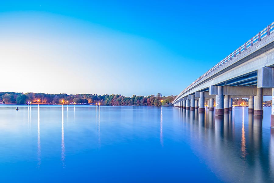 Lake Wylie sits south of Charlotte on the South Carolina border. It is another popular spot for those who are looking for a waterfront home.
