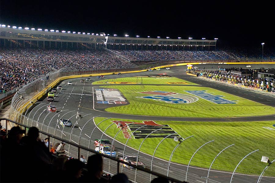 Charlotte Motor Speedway in Concord, NC regularly attracts huge crowds.
