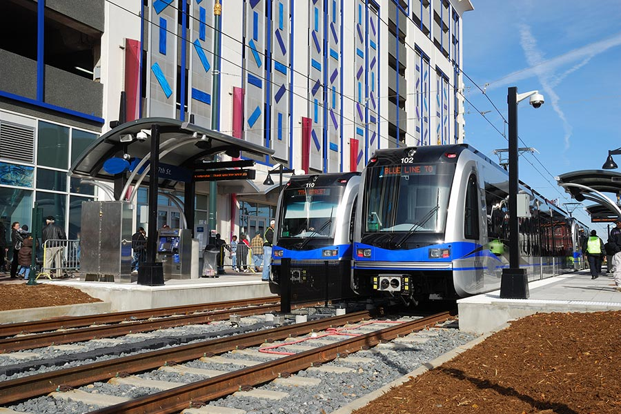 The LYNX is Charlotte's light rail service which ensures a hassle-free commute for many.