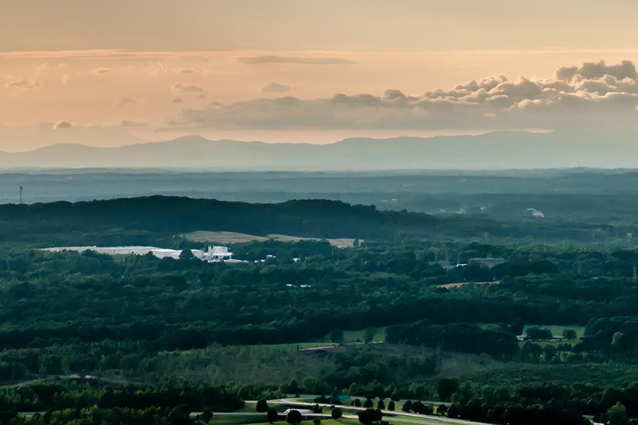Crowders Mountain is 800 feet tall offering incredible views of the surrounding area.