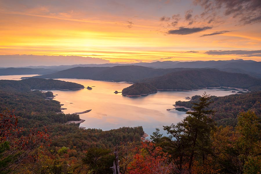 Lake Jocassee's stunning views, peaceful surroundings and crystal clear mountain water are just an hour and a half from Greer.